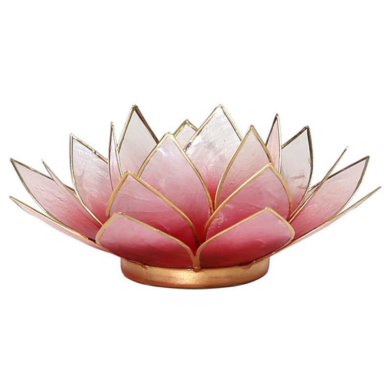 Lotus sfeerlicht rood/roze goudrand