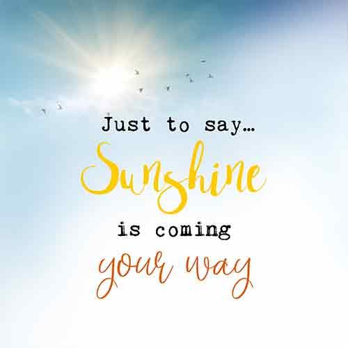 Sunshine is coming - Uit het Hart