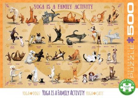 Family act YOGA puzzel (500 stukjes)