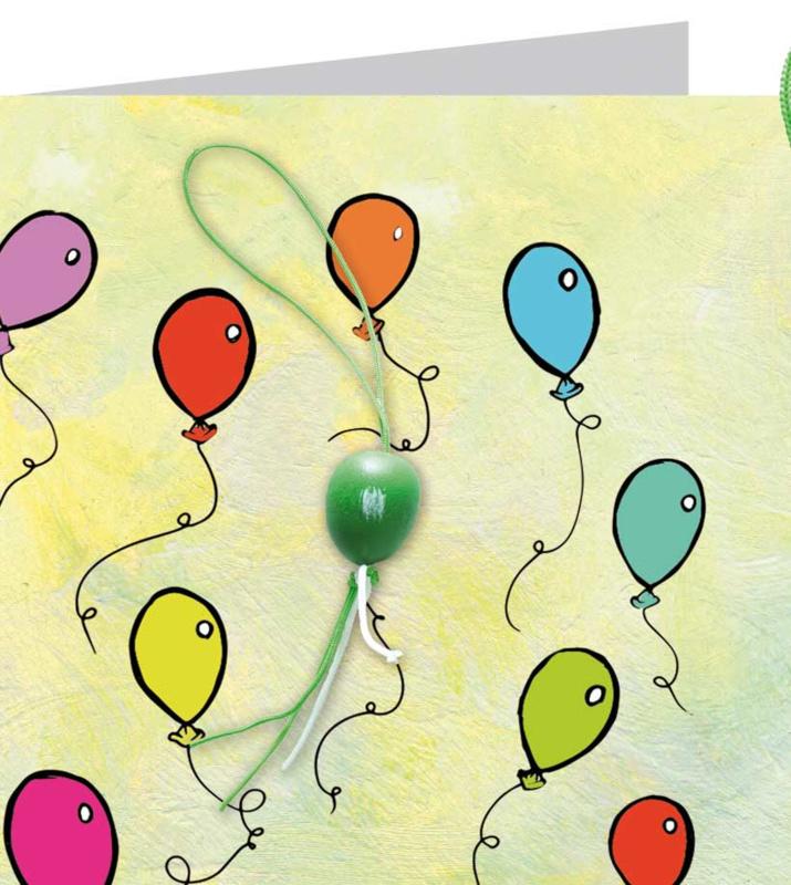 Wenskaart - Ballonnen
