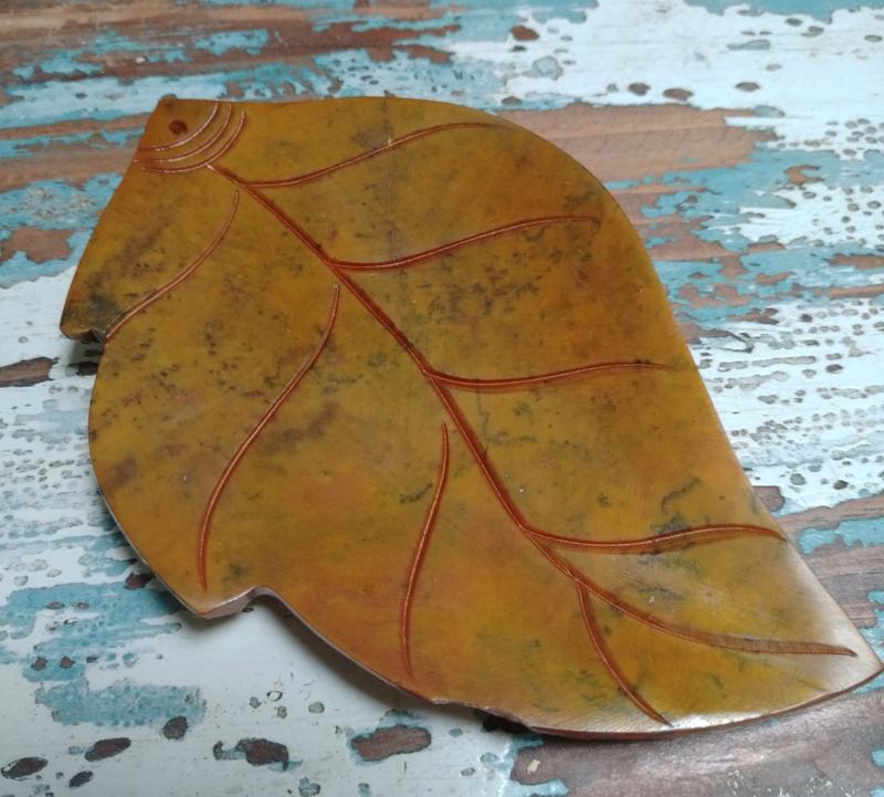 Parelmoer blad - geel