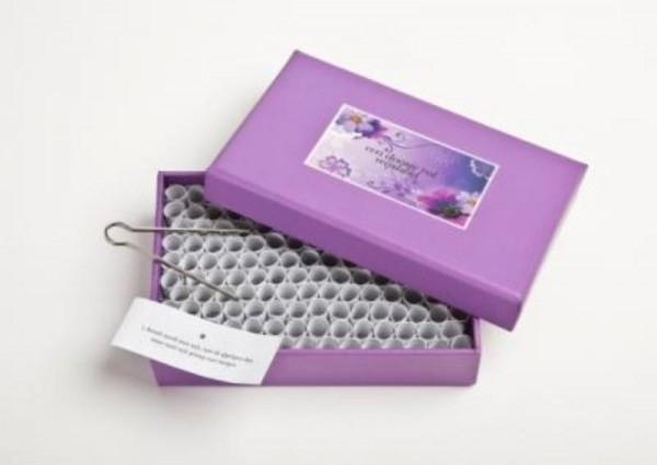 Een doosje vol WIJSHEID -  paars