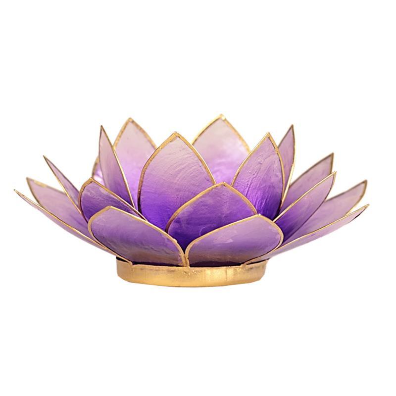 Lotus sfeerlicht violet goudrand