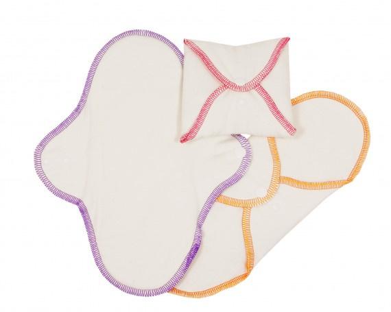 ImseVimse wasbaar Normaal maandverband - 3 stuks - naturel 100% Organic Cotton