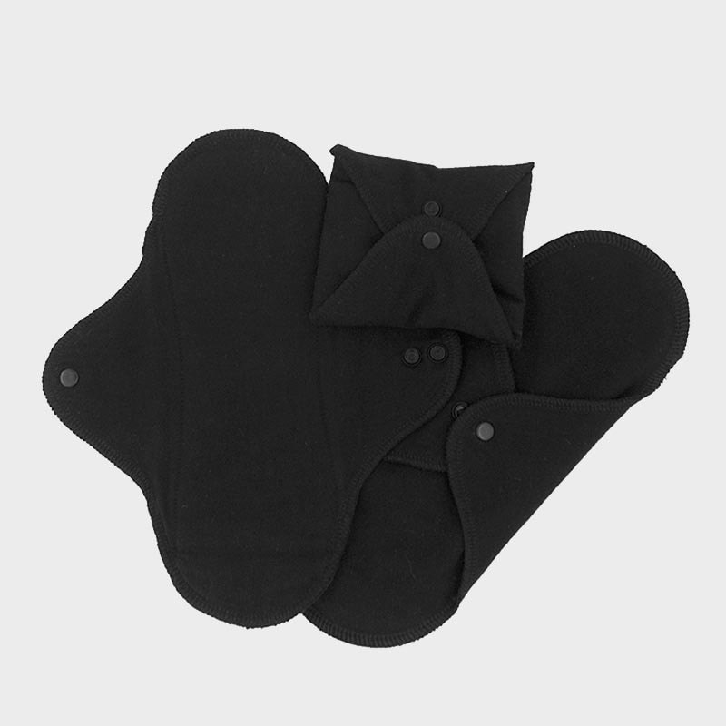 ImseVimse wasbare Inlegkruisjes - 3 stuks - zwart 100% Organic Cotton
