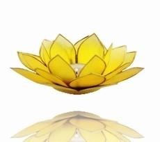 Lotus Sfeerlicht - 3e Chakra - Geel met Gouden Rand