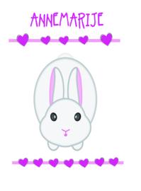 Poster met naam 'konijn'