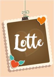 Poster met naam 'postzegel'
