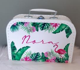 Koffertje met naam *Jungle Look Flamingo*  diverse kleuren