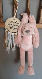 ''Happy Horse'' konijn Richie muziekknuffel 34 cm oudroze