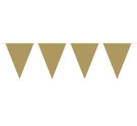 vlaggenlijn effen goud 10 meter