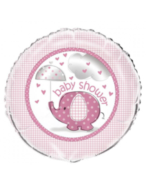 Babyshower folieballon olifant roze