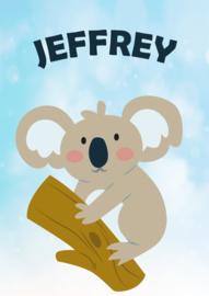 Poster met naam 'koala'
