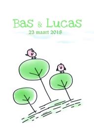Poster met naam 'bos'