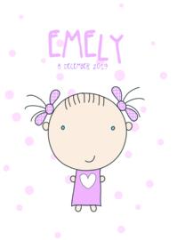Poster met naam 'meisje'