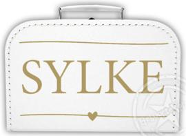 Koffertje met naam *Stripes* . Diverse kleuren koffertjes en bedrukking