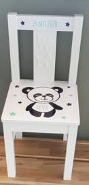 Stuhl  mit Namen und panda
