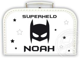 Koffertje met naam *Batman* Diverse kleuren koffertjes en bedrukking