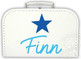 Koffertje met naam *Star* . Diverse kleuren koffertjes en bedrukking