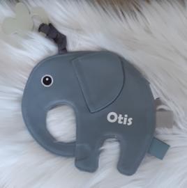 tutpop/ speendoekje  Ollie - Grey Blue (met naam)