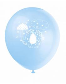 Babyshower ballonnen olifant blauw