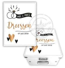 Herinneringsdoos voor bruiloft 'trouwring'