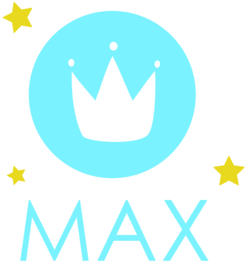 Raamsticker met naam 'kroon' blauw