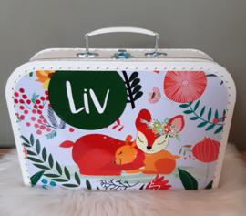 Koffertje met naam *Hertjes * diverse kleuren
