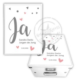 Herinneringsdoos voor bruiloft 'hartjes'