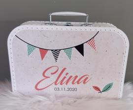 Koffertje met naam *Slinger meisje* diverse kleuren