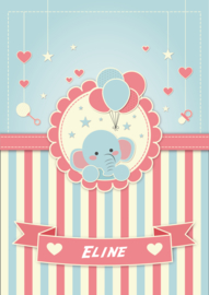 Poster met naam 'olifantje'