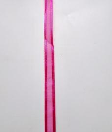 satijnlint donker roze 10 mm