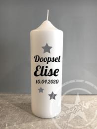Doopkaars met naam 'star'- doopsel