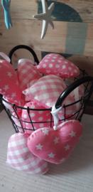 handgemaakt hartje roze ( 1 stuk )