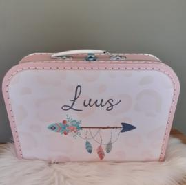 Koffertje met naam *Bohemian Style*  diverse kleuren