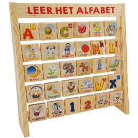 Leer het alfabet aan rek dubbelzijdig met of zonder naam