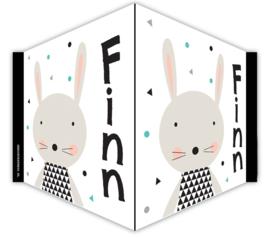V-bord /raambord met naam geboorte 'konijntje'