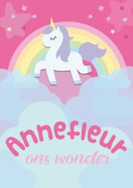 Poster met naam 'unicorn'
