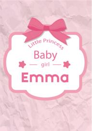 Poster met naam 'baby girl'