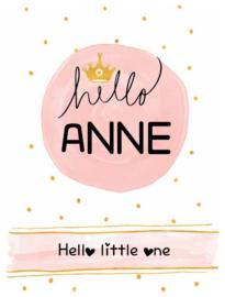 Poster met naam 'hello'
