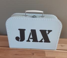 Koffertje met naam diverse kleuren