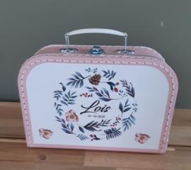 Koffertje met naam *Bladkrans* diverse kleuren