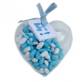 transparant plastic hart