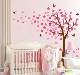 Muursticker Bloesemboom XL Pink/Licht roze