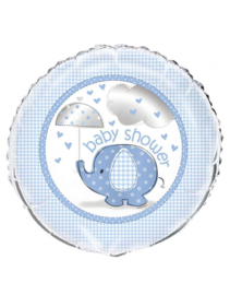 Babyshower folieballon olifant blauw