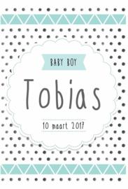 Poster met naam 'baby boy'