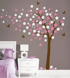 Muursticker Bloesemboom XL wit/roze