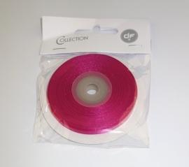 lint donker roze satijn 25 mtr