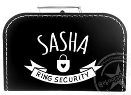 Ring Security koffertje met naam - Koffertje Ring Beveiliger bruiloft