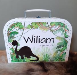 Koffertje met naam *Jungle Look Dino*  diverse kleuren